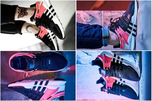 430625be5009 2018 Original Men adidas EQT Support ADV Primeknit 93 Core Black Turbo Red  2018 Spring Summer Running. Hot Sale 2017 UK Trainers ...