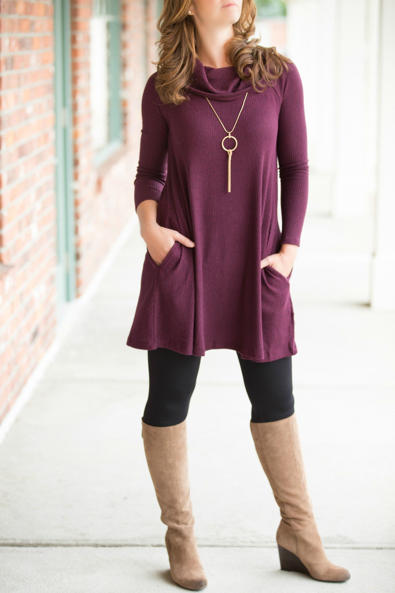 Fallen' In Love Tunic in Dark Wine – Jenny Boston Boutique