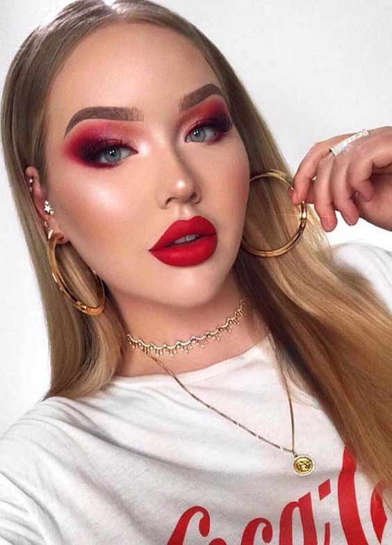 How to Nail Red Eyeshadow Looks Like a Boss
