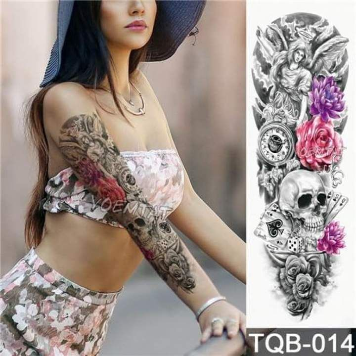 Sexy Large Arm Sleeve Tattoo