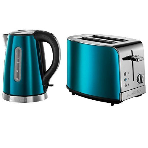 New Rus Hobbs Electric Shire Blue Jewels Kettle Jug 2 Slice Toaster Set Co Uk Kitchen Home