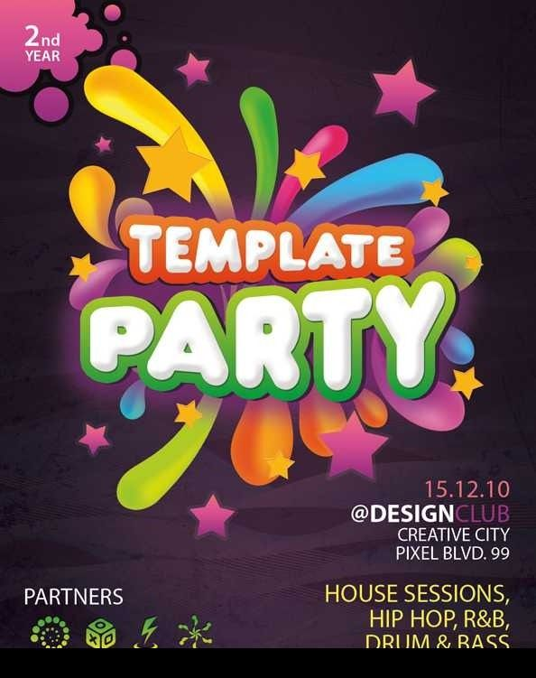 50 Amazing Free Flyer Designs, Templates and Tutorials Design - free party invitation templates word