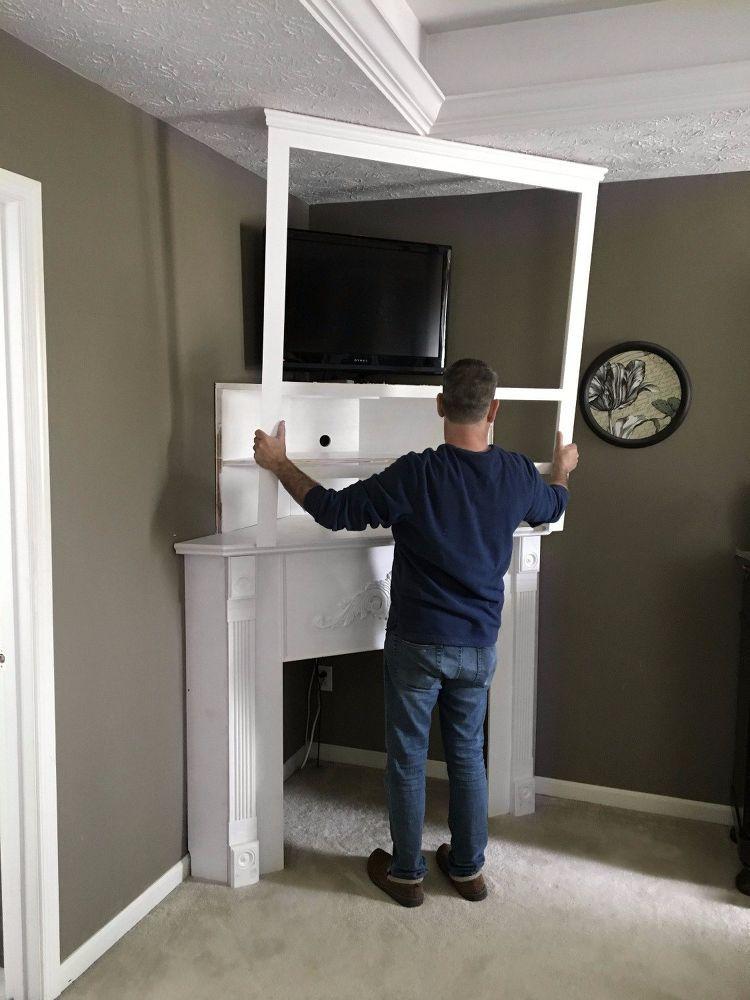 Diy Fireplace Mantel Creating Usable Corner Space