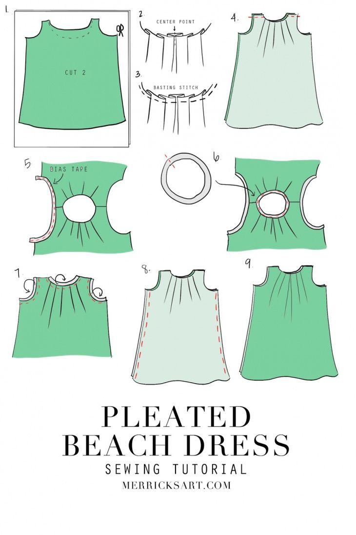 Cómo coser un vestido de la playa del verano (Bricolaje) | patrones ...
