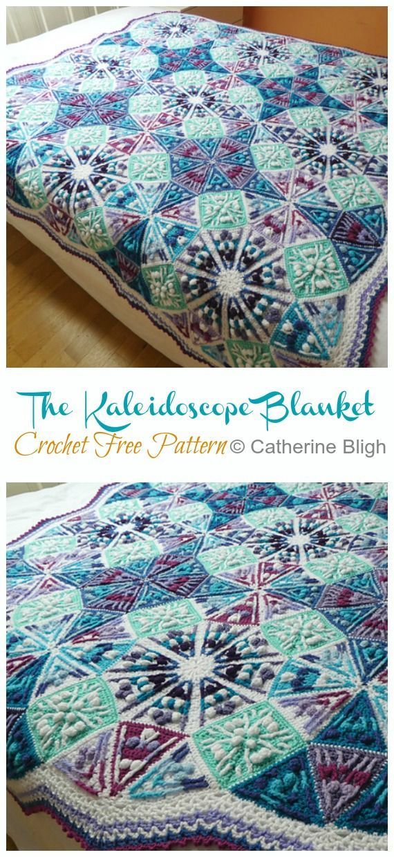 Photo of The Kaleidoscope Blanket Crochet Free Pattern – Crochet & Knitting