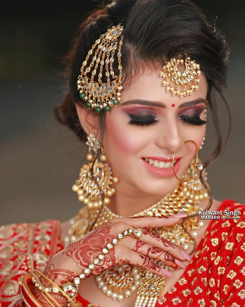 Bridal look with a smokey eye makeup in 2020 Best bridal