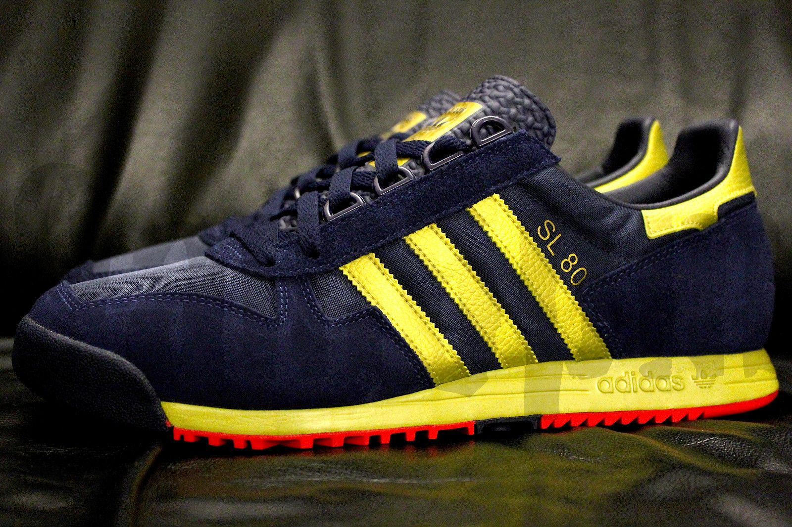 2010 Adidas SL 80 10 NAVY BLUE GOLD RED SUEDE sl80 milano 72