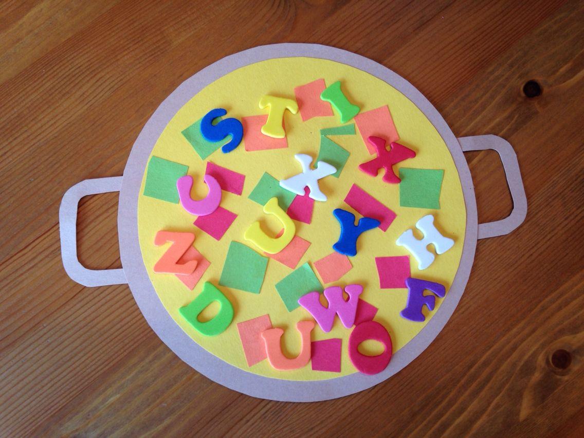 Alphabet Soup Craft for Preschoolers