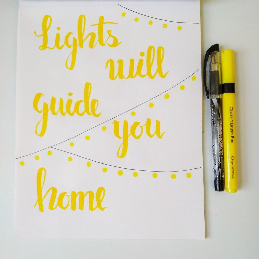 Brush Lettering Coldplay Lyrics Brush Lettering Quotes Hand