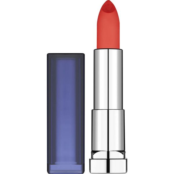 Maybelline Color Sensational Bold Lipstick Orange Danger 883 ($9.02) ❤ liked on Polyvore featuring beauty products, makeup, lip makeup, lipstick, lips, maybelline lipstick and maybelline