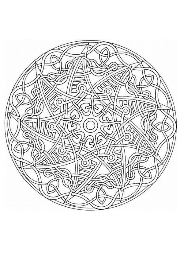 This Expert Mandala Coloring Sheet Has Fun Design And Is Challenging To Color Perfect To Distress Mandala Coloring Pages Mandala Coloring Books Coloring Pages