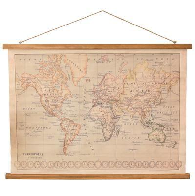Rustic Canvas Wall Art.Rustic Canvas World Map Banner Wall Art Artofit