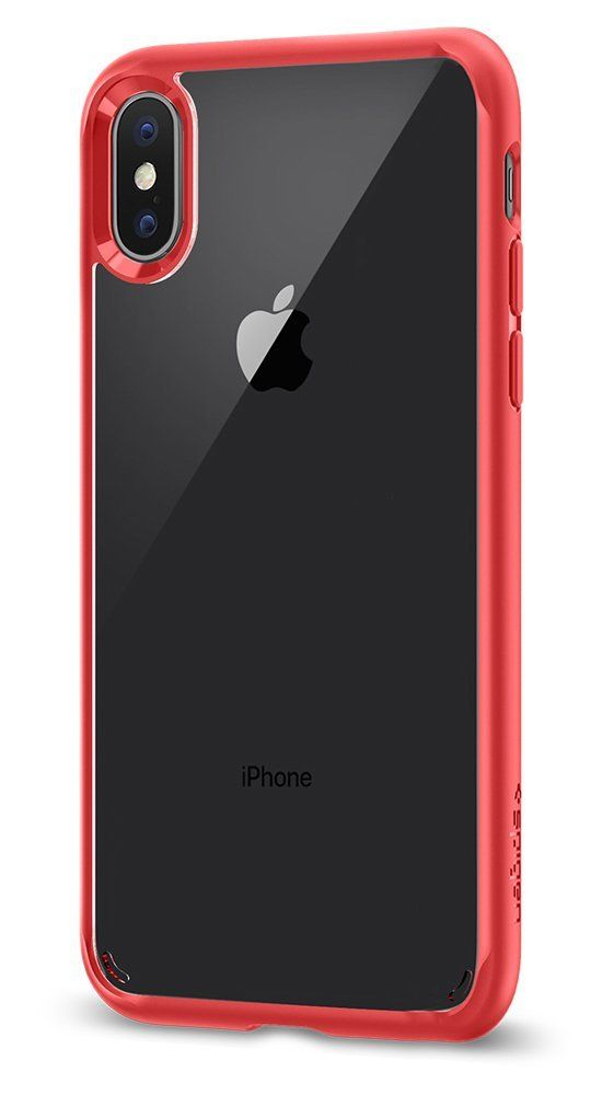 the latest 86afa 4d4d7 Spigen Ultra Hybrid Case for iPhone X - Red 057CS22130: Amazon.in ...