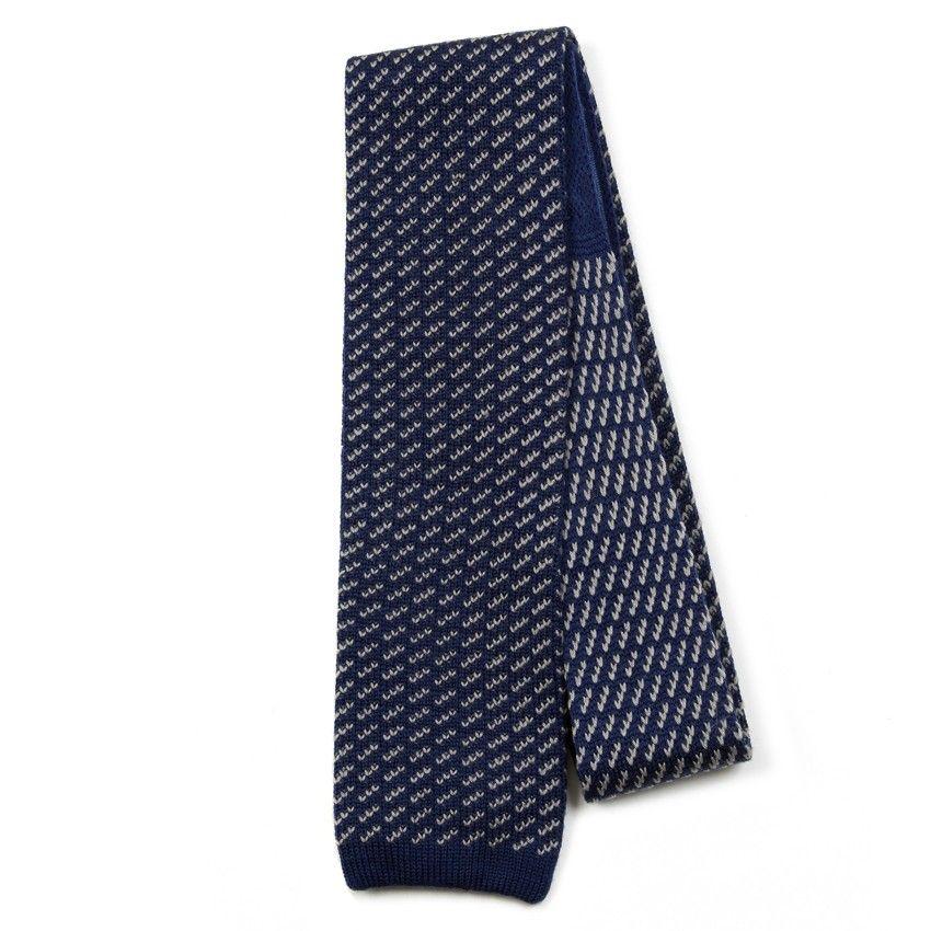 "The Knottery ""Deposition"" navy silk knit tie"