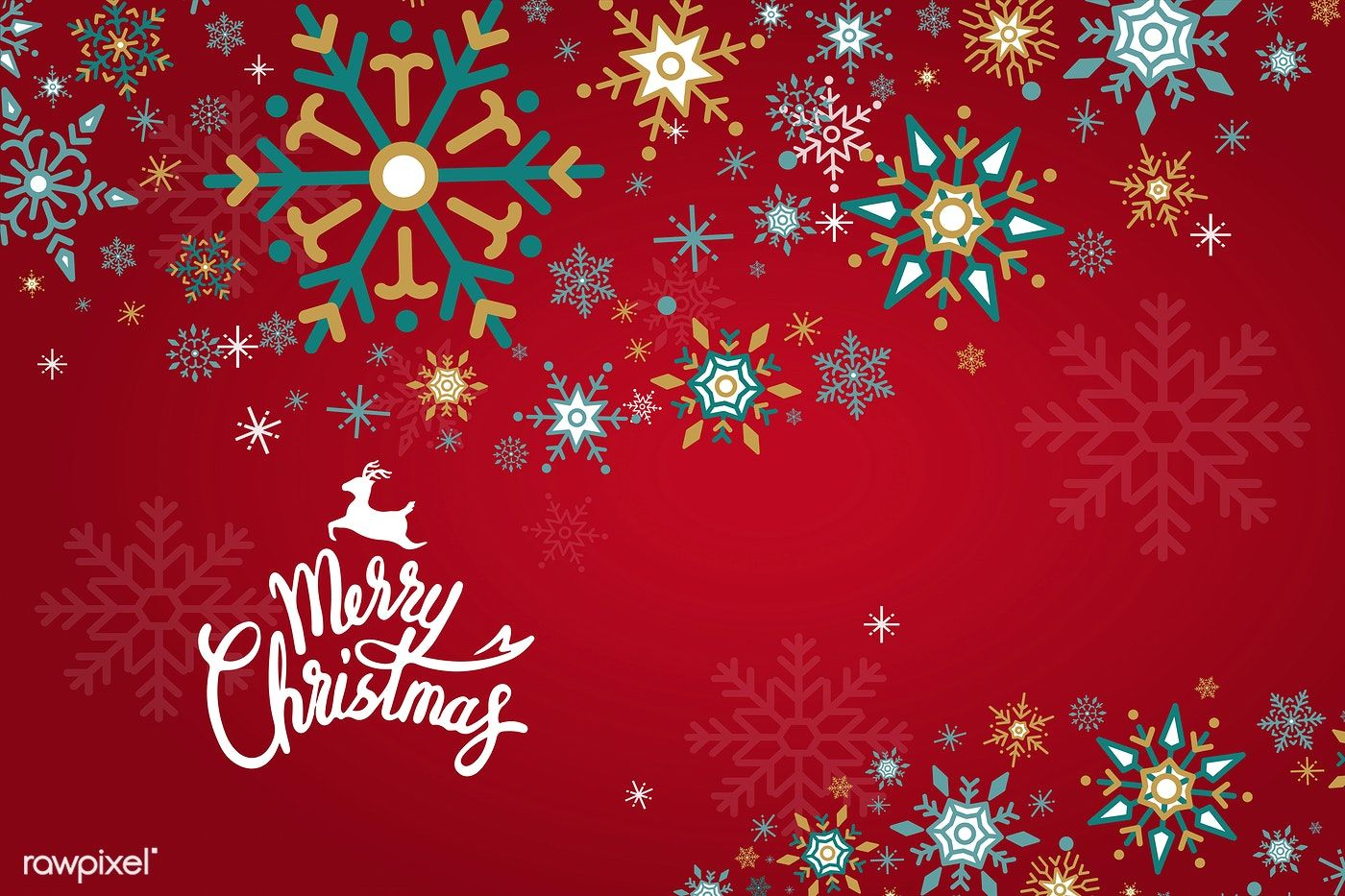 Merry Christmas winter holiday background vector free