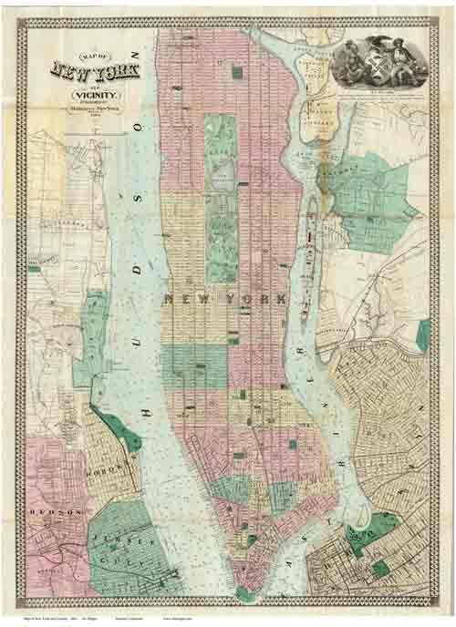 Old Map Of New York.Old Maps Of Manhatttan Homeschool Pinterest New York City Map