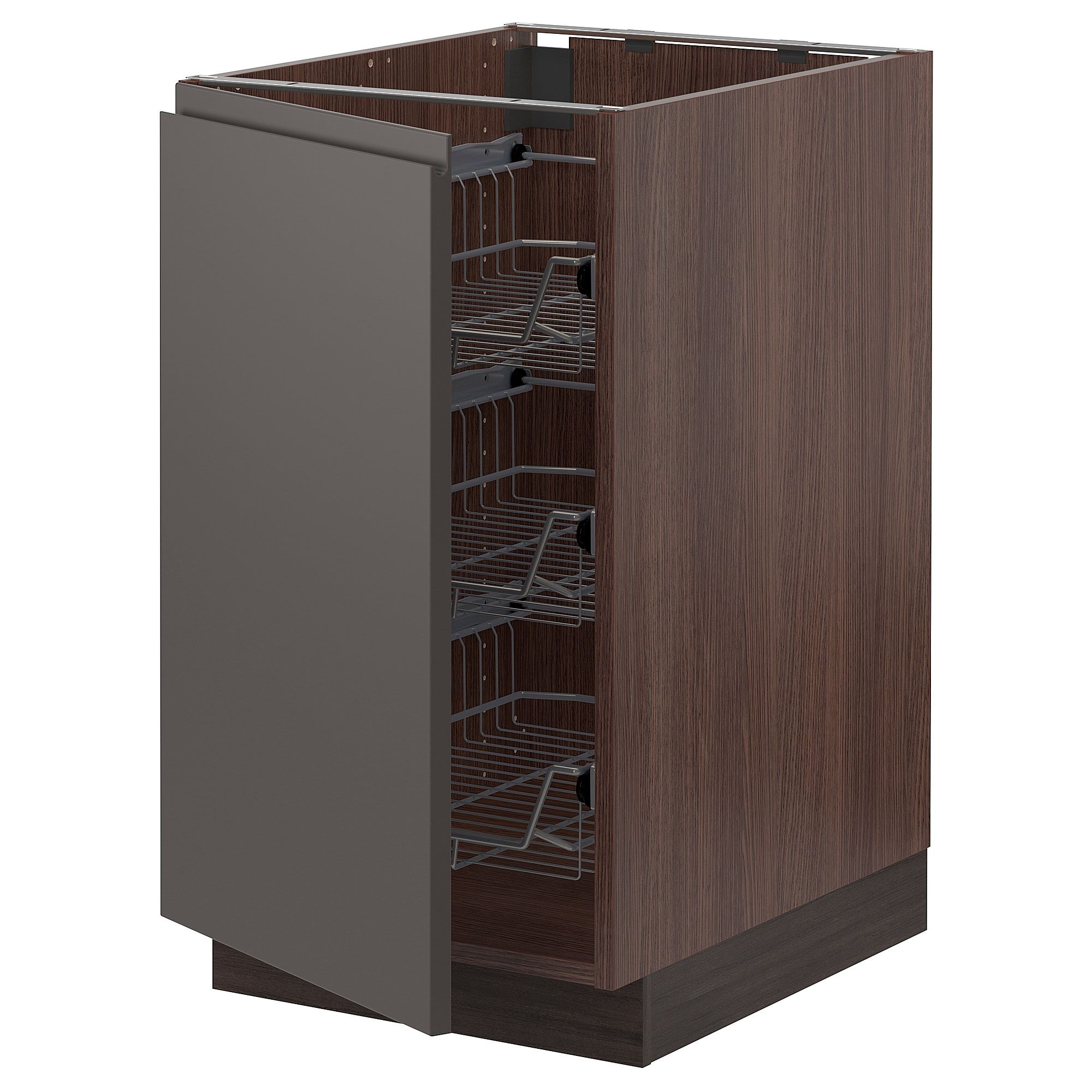 IKEA SEKTION wood effect brown Base with wire