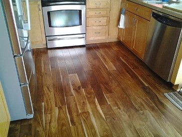 This Traditional Kitchen Features Acacia Hardwood Floors