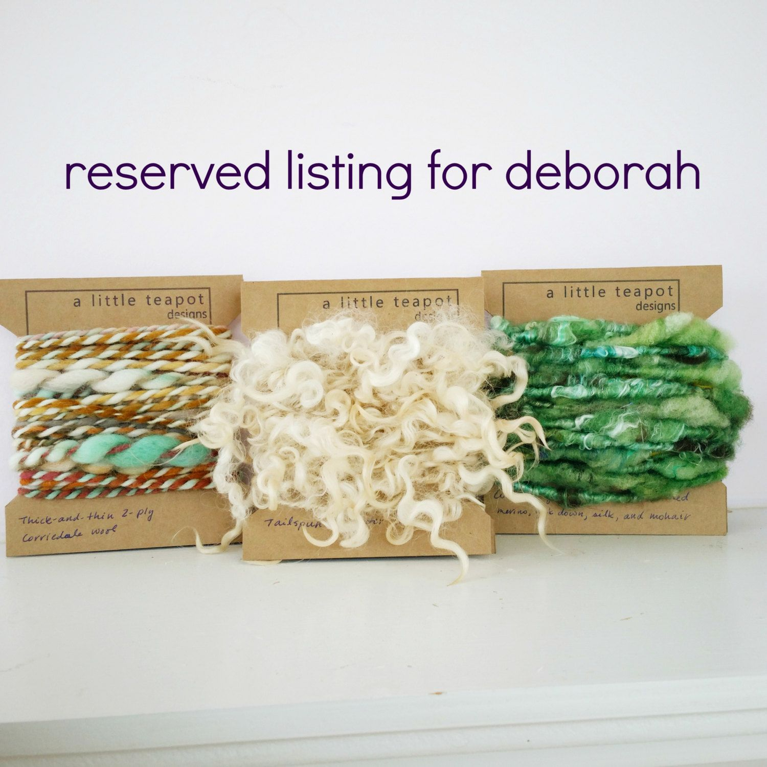Art Yarn Tasting Flight - Reserved Listing by alittleteapotdesigns on Etsy