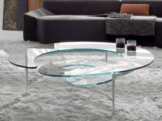 Glass Coffee Table for Modern Living Room Decoration Table Edge