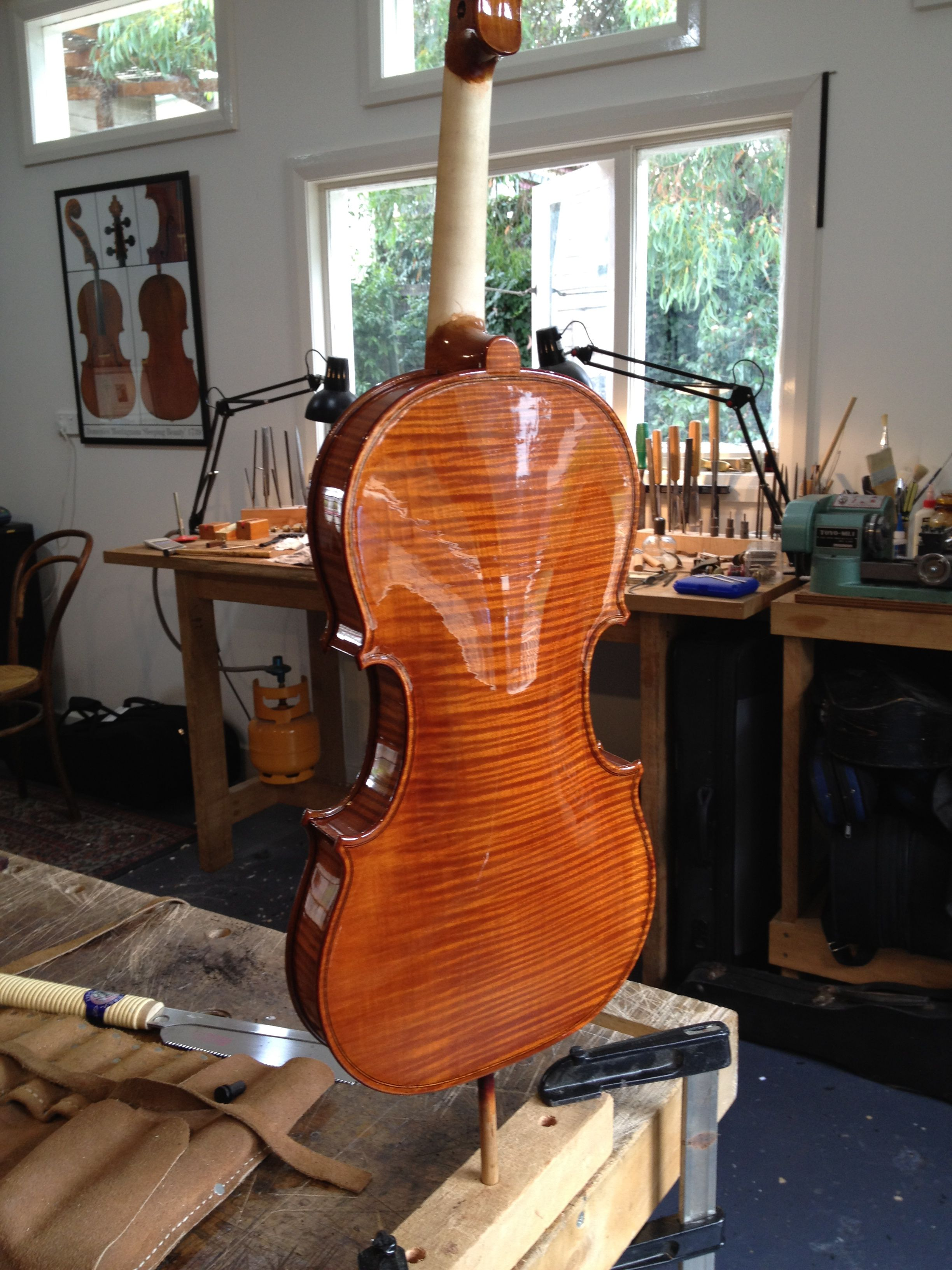 Philip Smith Luthier Violin Back Violin Pinterest Atelier