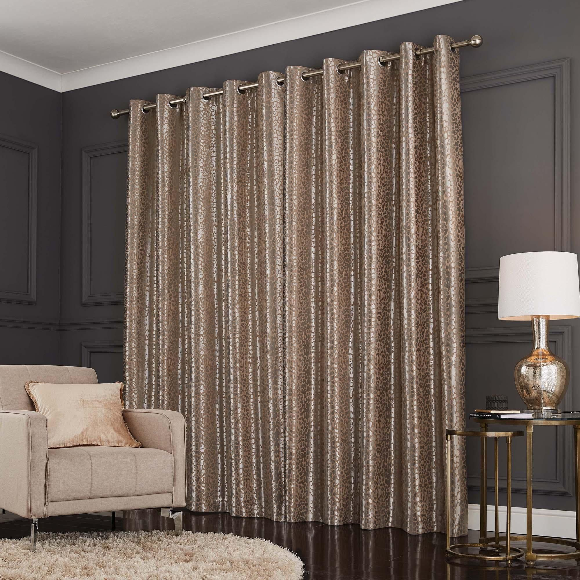 Leopard Natural Jacquard Eyelet Curtains In 2020 Elegant Curtains Curtains Curtains Dunelm