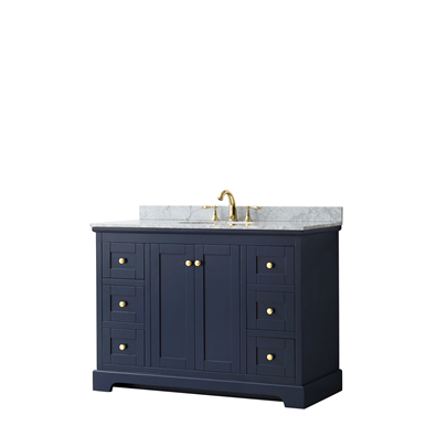 Wyndham Collection Avery 48 Bathroom Vanity Set In 2020 Wyndham Collection Marble Vanity Tops Square Sink