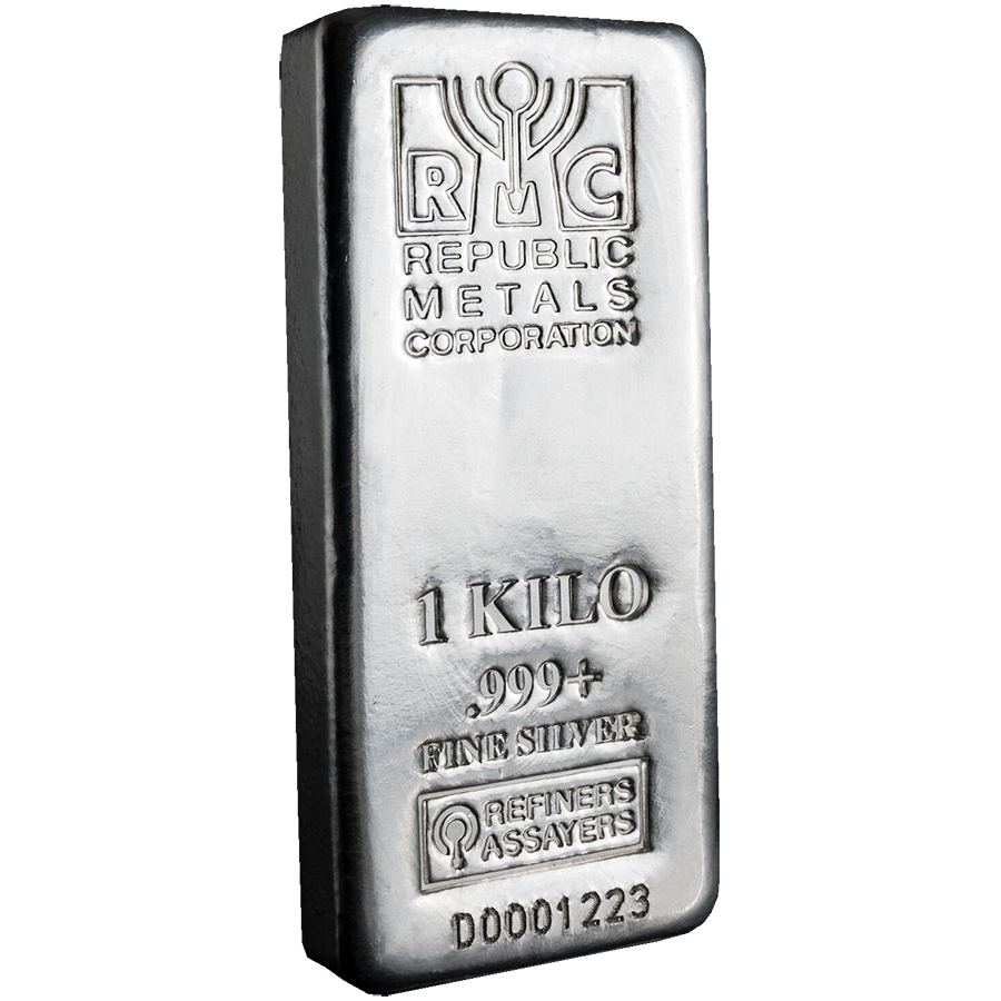 Rmc 1kg Cast Silver Bar Silver Bars Buy Gold And Silver Gold And Silver Coins