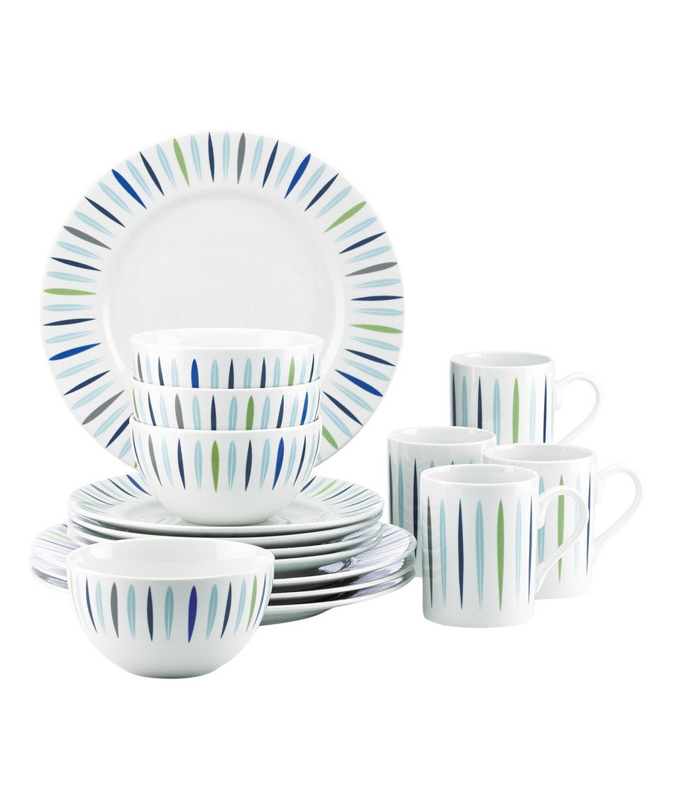 Loving This Dansk 16 Piece Burbs Starburst Blue Dinnerware Set On Zulily Zulilyfinds Blue Dinnerware Sets Blue Dinnerware Dinnerware Sets
