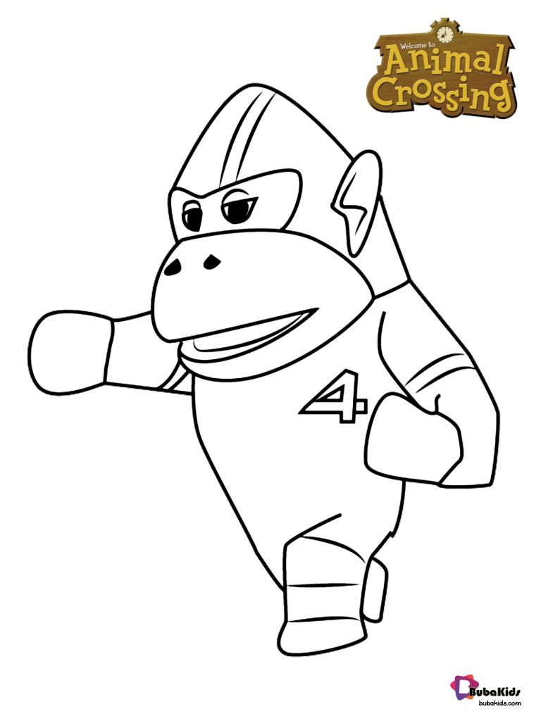 Rocket The Female Gorilla Uchi Gorilla Animal Crossing Coloring Page Bubakids Com Cartoon Coloring Pages Animal Crossing Coloring Pages