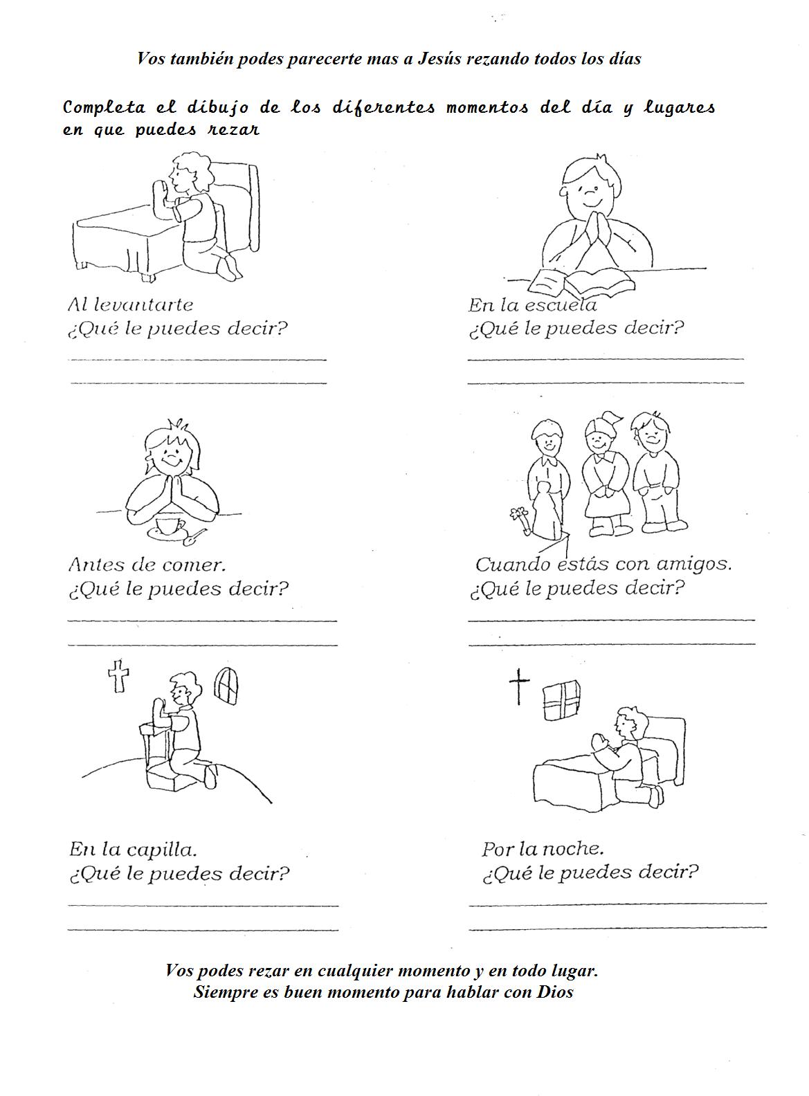 ejercicios para nios para hacer oracion buscar con google