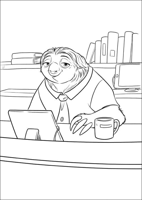 Print Zootopia Nick Wilde Judy Hopps Coloring Pages Zootopia