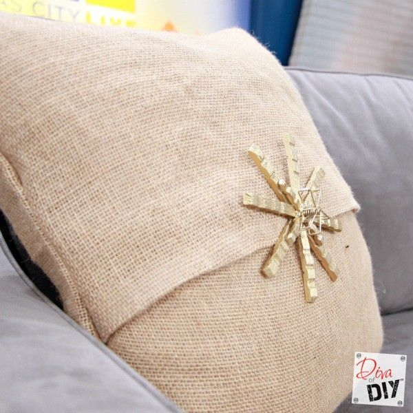 How To Make Easy No Sew Burlap Pillow Covers DIY