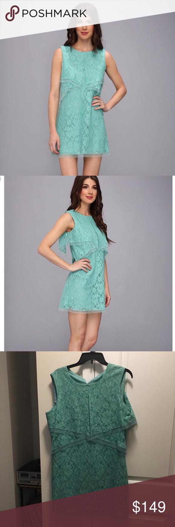 Bcbg aqua lace dress new w tags nwt beautiful lace and minis