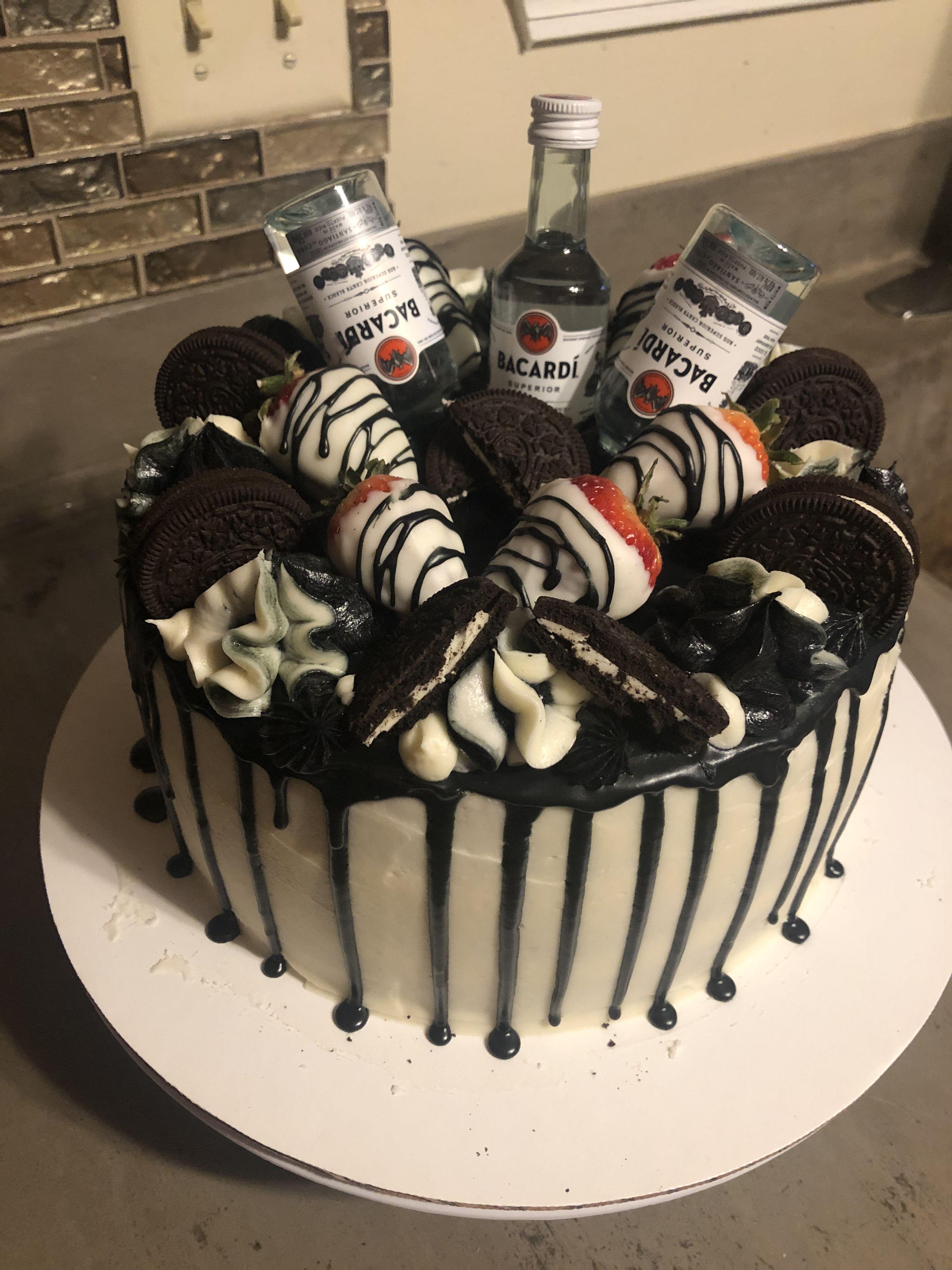 Oreo Strawberry Liquor Bottle Drip Cake Liquor Cake Drip Cakes Cake