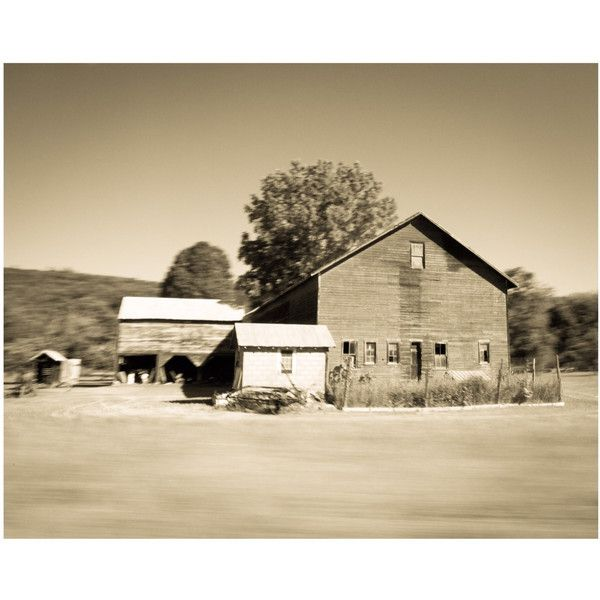 Old Barn Sepia Office Wall Art Print Photography Home Office... (125 ...