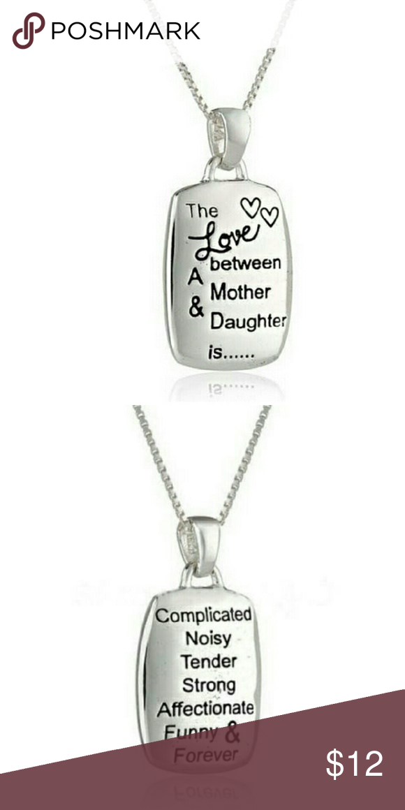 The Love Between A Mother & Daughter Necklace Condition:100% brand new and high quality  The Love between A Mother & Daughter is pendant necklaces statement necklace  PLATE: Zinc alloy Jewelry Necklaces