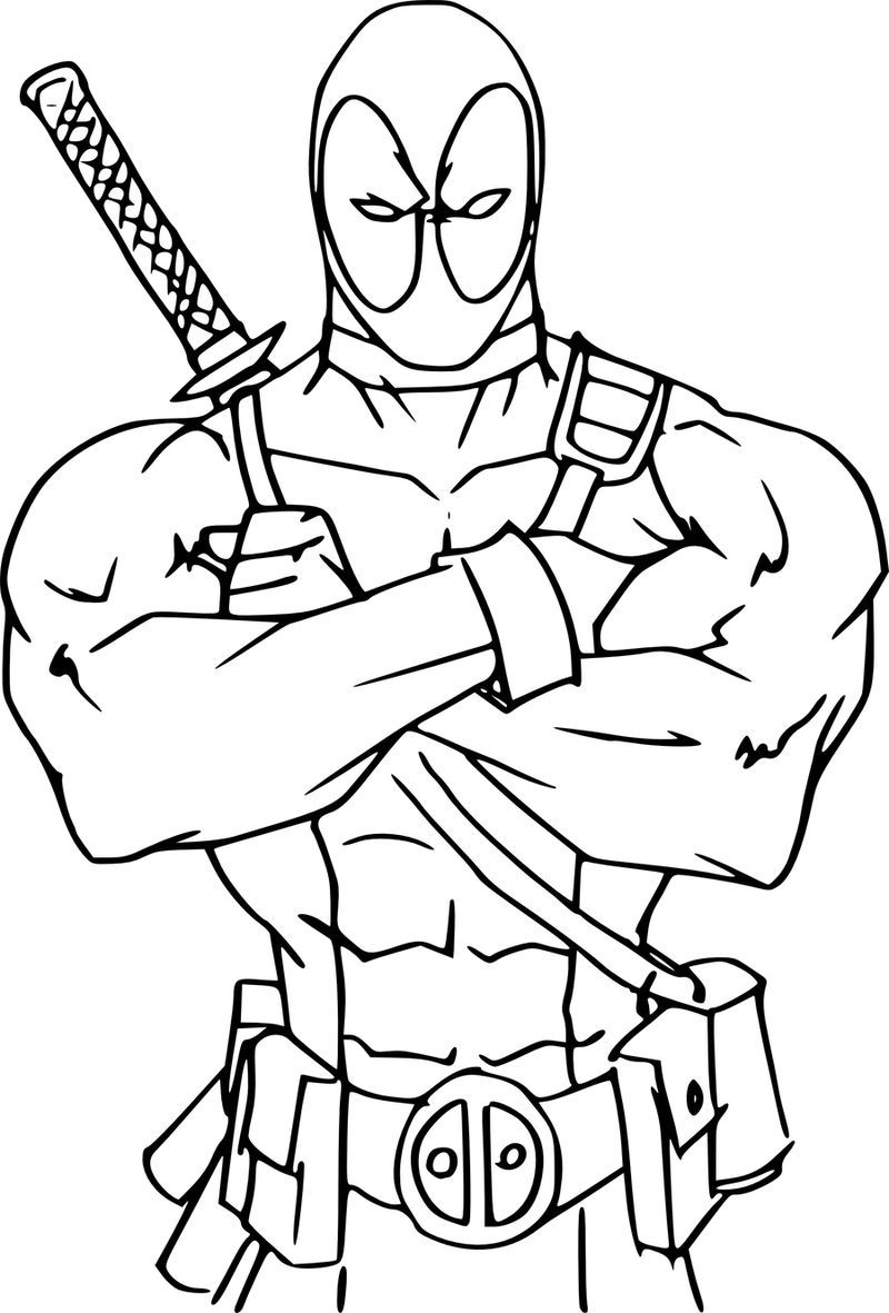 Free Coloring Pages Deadpool Printable