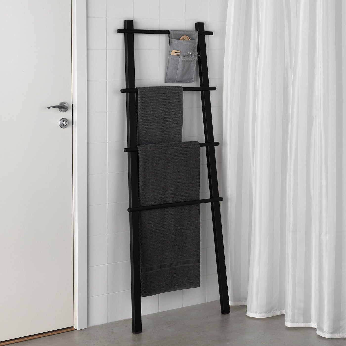 VILTO Towel stand, black - IKEA in 8  Small bathroom decor