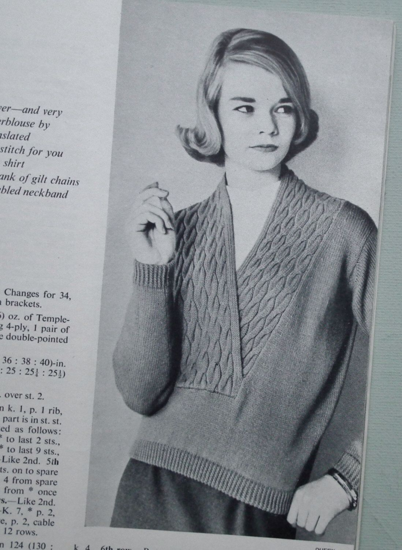 Vogue Knitting Book No 55 1959 - Vintage 1950s Knitting Patterns ...