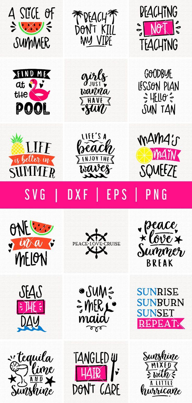 Summer Svg Bundle Mb48 206232 Svgs Design Bundles Summer Quotes Funny Summer Humor Summer Crafts