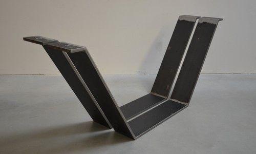 shiptrunk double gestell stahl tischbeine hocker pinterest tisch tischbeine und esstische. Black Bedroom Furniture Sets. Home Design Ideas
