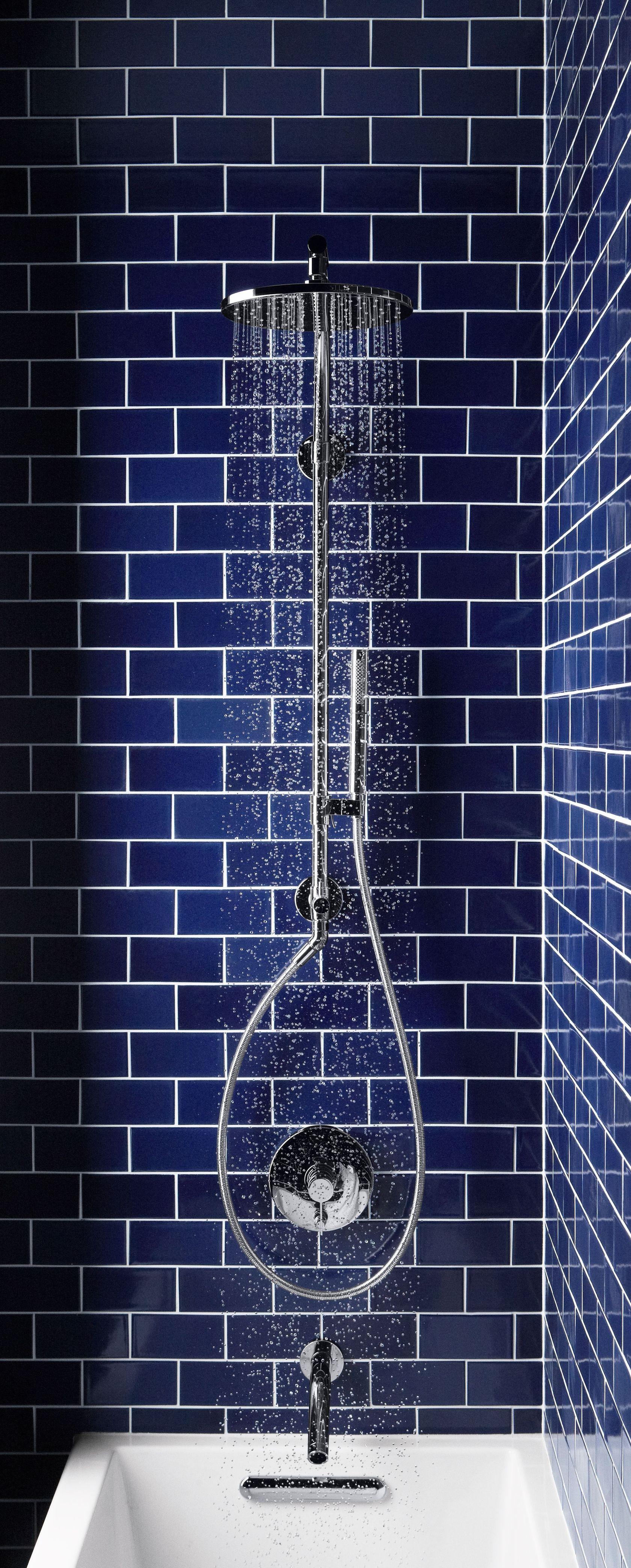 Dark Blue Tiles. Blue Subway Tile Bathroom From Kohler Dark Tiles ...