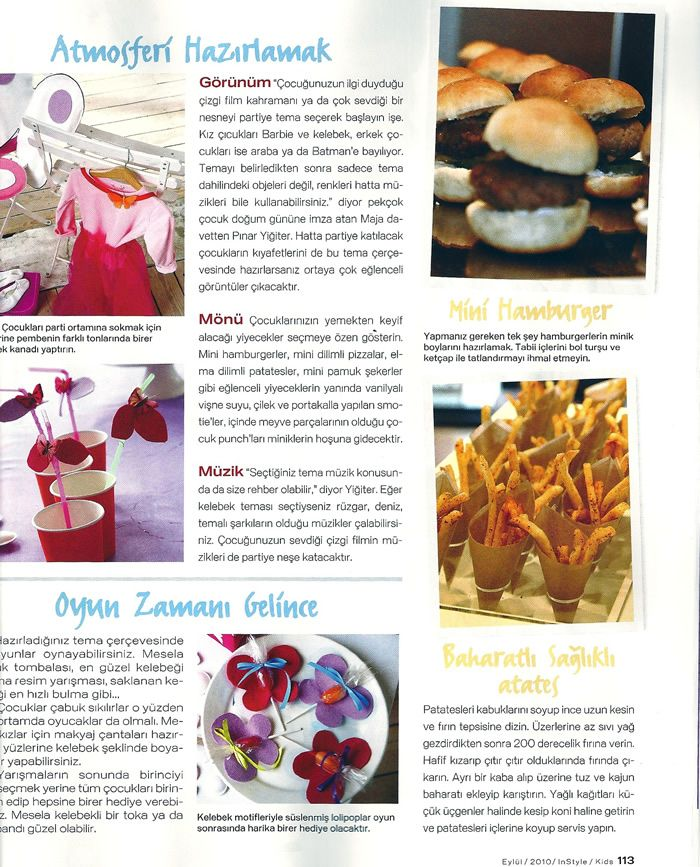 Instyle Kids Eylül 2010 Maja Davet Maja Davet Pinterest Food