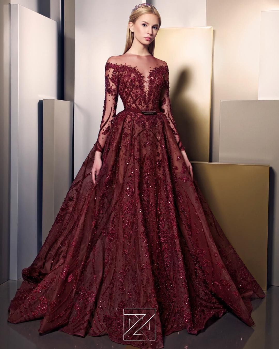 6 524 Likes 228 Comments Ziad Nakad Ziadnakad On Instagram Znsignature2016 024 Haute Prom Dresses With Sleeves Gowns Prom Dresses Long With Sleeves