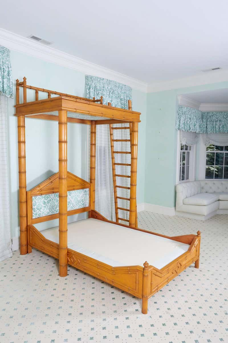 Best Faux Bamboo Bed With Platform Canopy Bed Full Size 640 x 480
