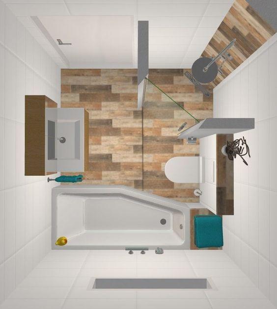 Kleine badkamer inrichten; Voorbeelden van indeling met schuin dak, tot kleuradvies, tegels, wasmachine en opbergruimte - Mamaliefde.nl #badkamerinspiratie
