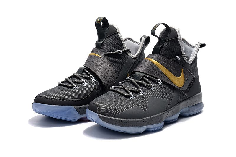 Cheap Lebron 14 For Kids Grey Gold