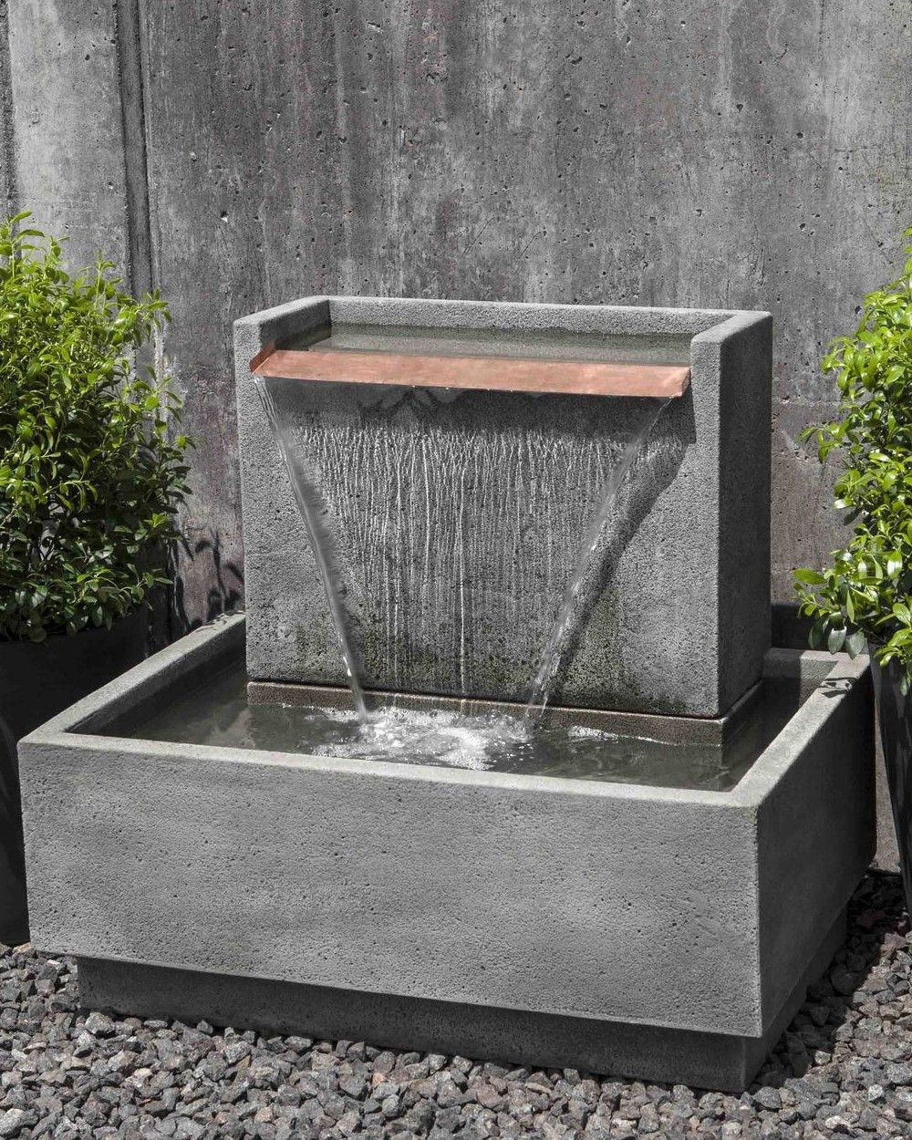 Falling Water II Garden Fountain Cast stone Fountain and Concrete