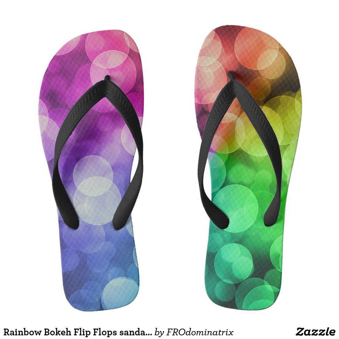 a6c138a2d93e5b Rainbow Bokeh Flip Flops sandals